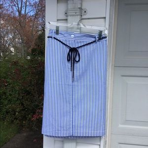 NWT Talbots Cute Blue & White Striped Short Skirt